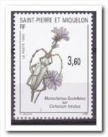 Saint-Pierre Et Miquelon 1993, Postfris MNH, Flowers, Animals - Ongebruikt