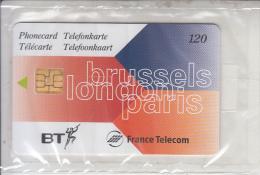 UK/FRANCE - Brussels-London-Paris, Eurostar Fourth Issue, Satellite Card 120 Units, 06/97, Mint - Ver. Königreich