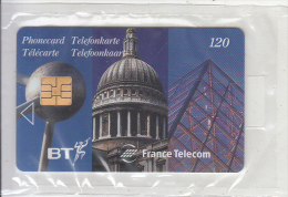 UK/FRANCE - Monuments 2, Eurostar Fifth Issue, Satellite Card 120 Units, 06/97, Mint - Ver. Königreich