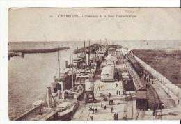 Cpa  Cherbourg Panorama De La Gare - Cherbourg