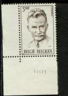 BELGIE POSTFRIS Met Drukdatum MINT NEVER HINGED Printing Date OCB 1604 - Variétés (Catalogue COB)