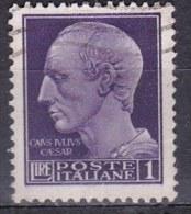 Regno D'Italia, 1945 - 1 Lira Serie Imperiale, Senza Fasci, Senza Filigrana - Nr.540 Usato° - 1900-44 Vittorio Emanuele III