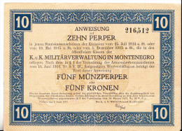 10 PERPERA 1917 - MONTENEGRO - Billetes