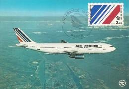 CPA-1983-CARTE TIMBRE1é JOUR-50 ANS CIE AIR FRANCE-AIRBUS A 300 B2-TIMBRE Et CACHET AIR FRANCE-TBE-RARE - 1946-....: Moderne