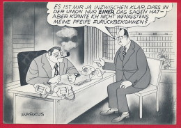AK POLITIK 'Strauss / Kohl ...' ~ Um 1975 - Satirisch
