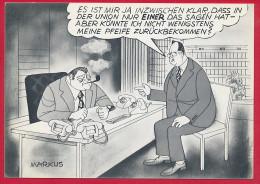 AK POLITIK 'Strauss / Kohl ...' ~ Um 1975 - Satirical