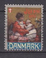 Dänemark, Julen 1931, Weihnachten, Reklamemarke, Julemaerket, Mutter Mit Kind Vor Tannenbaum - Erinnophilie