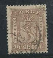 Noorwegen, Yv 10 Jaar 1863, Gestempeld, Cote 135,00 Euro à 15 %, Zie Scan - Norvège