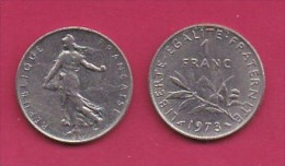 FRANCE, 1973, 1 Circulated Coin Of 1 Franc, Nickel  , KM925.1, C3008 - France