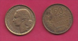 FRANCE, 1950, 1 Circulated Coin Of 1 Franc, Alu-Bronze  , KM917.1, C3013 - France