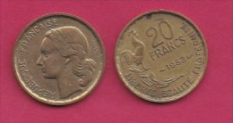 FRANCE, 1953, 1 Circulated Coin Of 1 Franc, Alu-Bronze  , KM917.1, C3016 - France