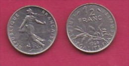FRANCE, 1968, 1 Circulated Coin Of 1/2 Franc, Nickel , KM 931.1, C3019 - France