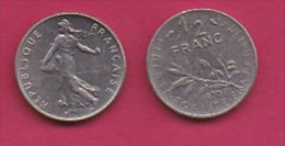 FRANCE, 1970, 1 Circulated Coin Of 1/2 Franc, Nickel , KM 931.1, C3020 - France