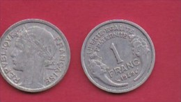 FRANCE, 1949, 1 Circulated Coin Of 1 Franc, Aluminium , KM 885a.1, C3039 - France