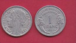 FRANCE, 1950, 1 Circulated Coin Of 1 Franc, Aluminium , KM 885a.1, C3040 - France