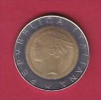 ITALY, 1986, 1 Nice Circulated Coin Of 500 Lira,  KM 111, C3047 - 1946-… : Republic