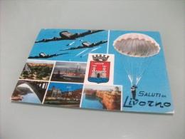 PARADUTISTA LANCIO PARACADUTISTI DALL'AEREO  SALUTI DA LIVORNO VEDUTINE - Paracadutismo