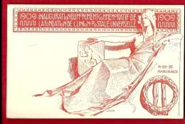 HAP-25 Inauguration Monument Commémoratif Union Postale Universelle Berne 1909 Cachet 1909 - Poste & Facteurs