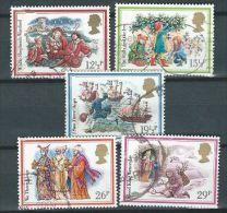 GB 1982 CHRISTMAS SET OF 5 USED SG 1202-06 MI 933-37 SC 1006-10 IV 1062-1066 - Used Stamps