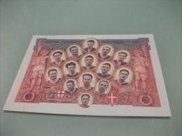 FORMAZIONE CALCIO GENOA 1893 VIAGGIATA CON TIMBRO ROSSO - Football