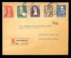 NETHERLANDS REGISTERED COVER 1947 1st DAY CANCEL CHARITY STAMPS ZOMERZEGELS - Brieven En Documenten