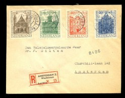 NETHERLANDS REGISTERED COVER 1948 1st DAY CANCEL CHARITY STAMPS ZOMERZEGELS - Brieven En Documenten