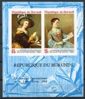 Burundi, 1968, International Letter Writing Week, MNH Imperforated Souvenir Sheet, Michel Block 28B - Non Classés