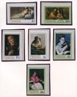 Burundi, 1968, Paintings, MNH Imperforated Set, Michel 395-400B - Non Classés