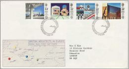 GB 1987 ARCHITECTURE FDC SG 1355-58 MI 1105-08 SC 1176-79 IV 1266-1269 - Covers & Documents