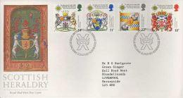 GB 1987 SCOTTISH HERALDRY FDC SG 1363-66 MI 1113-16 SC 1184-87 IV 1274-1277 - Covers & Documents