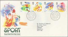 GB 1988 SPORT FDC SG 1388-91 MI 1143-46 SC 1209-12 IV 1307-1310 - Covers & Documents