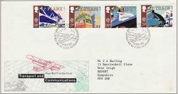 GB 1988 TRANSPORT FDC SG 1392-95 MI 1147-50 SC 1213-16 IV 1311-1314 - Covers & Documents