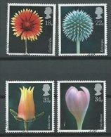 GB 1987 FLOWERS SET OF 4 USED SG 1347-50 MI 1097-100 SC 1168-71 IV 1256-1259 - Used Stamps