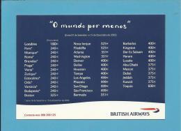 "BRITISH AIRWAYS - ADVERTISING - "" O Mundo Por Menos "" - Portugal - 2 Scans - Publicité"