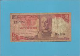 ANGOLA - 20 ESCUDOS - 24.11.1972 - P 99 - MARECHAL CARMONA - PORTUGAL - Angola