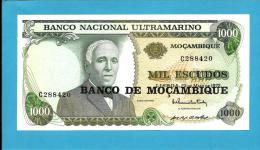 MOZAMBIQUE - 1000 ESCUDOS - ND ( 1976 Old Date 23.05.1972 ) - P 119 - UNC. - GAGO COUTINHO - VERSO( SACADURA CABRAL ) - Mozambique