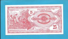MACEDONIA - 25 DENAR - 1992 - Pick 2 - UNC. - National Bank - Macedonia