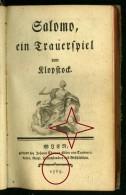 Der Messias Rare Print Published 1765 By Friedrich Gottlieb Klopstock. - Books, Magazines, Comics