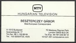 MTV- Hungarian Television, Budapest. - Cartes De Visite