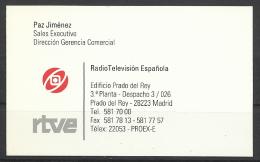 RTVE-Radio Television Espanola, Madrid. - Tarjetas De Visita