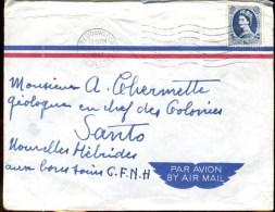 81082 - 1 TP OMEC TEDDINGTON  1957 Par Avion Pour Les NOUVELLES HEBRIDES TB - Brieven En Documenten