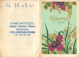Calendrier Parfumé 1983, Floramye, L T Piver, Cachet Marcel, Coiffeur à Aigrefeuille D'Aunis - Calendriers