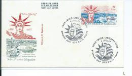 St Pierre Et Miquelon, Enveloppe 1er Jour, Miss Liberty - Lettres & Documents
