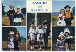 Couples D´enfants En Costume De Pont-l´Abbé Quimper Fouesnant Et Plouguerneau - écrite Et Timbrée - 2 Scans - Pont L'Abbe