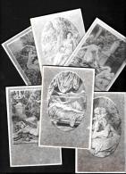 [DC4303] SERIE DI 6 CARTOLINE - RICORDI E DESIDERI - PHOTO - ARS CARD - Non Viaggiate - Old Postcard - Cartoline