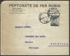 Perfin Industria Farmaceutica Peptonate De Fer Robin - 1900-44 Victor Emmanuel III