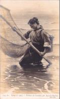 Salon 1907 - Pêcheeuse De Crevettes, Par Auguste Hagborg - Paintings
