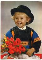La Bretagne - Petit Garçon En Costume De Quimper (Finistère) - écrite Non Timbrée - 2 Scans - Quimper