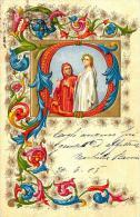 [DC4313] CARTOLINA - IN RILIEVO  - Viaggiata 1905 - Old Postcard - Cartoline