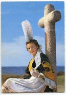 Jeune Fille En Costume De Bigoudenne, Région De Penmarch Et Saint-Guénolé - écrite Et Timbrée - 2 Scans - Penmarch
